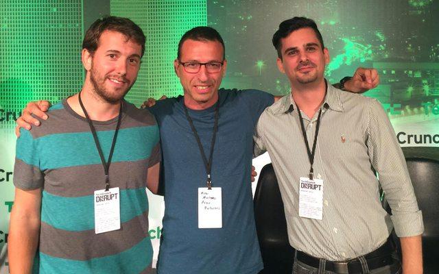 שלושת היזמים מימין לשמאל: עוז פיקסמן, קובי מרנקו, נועם ארקינד