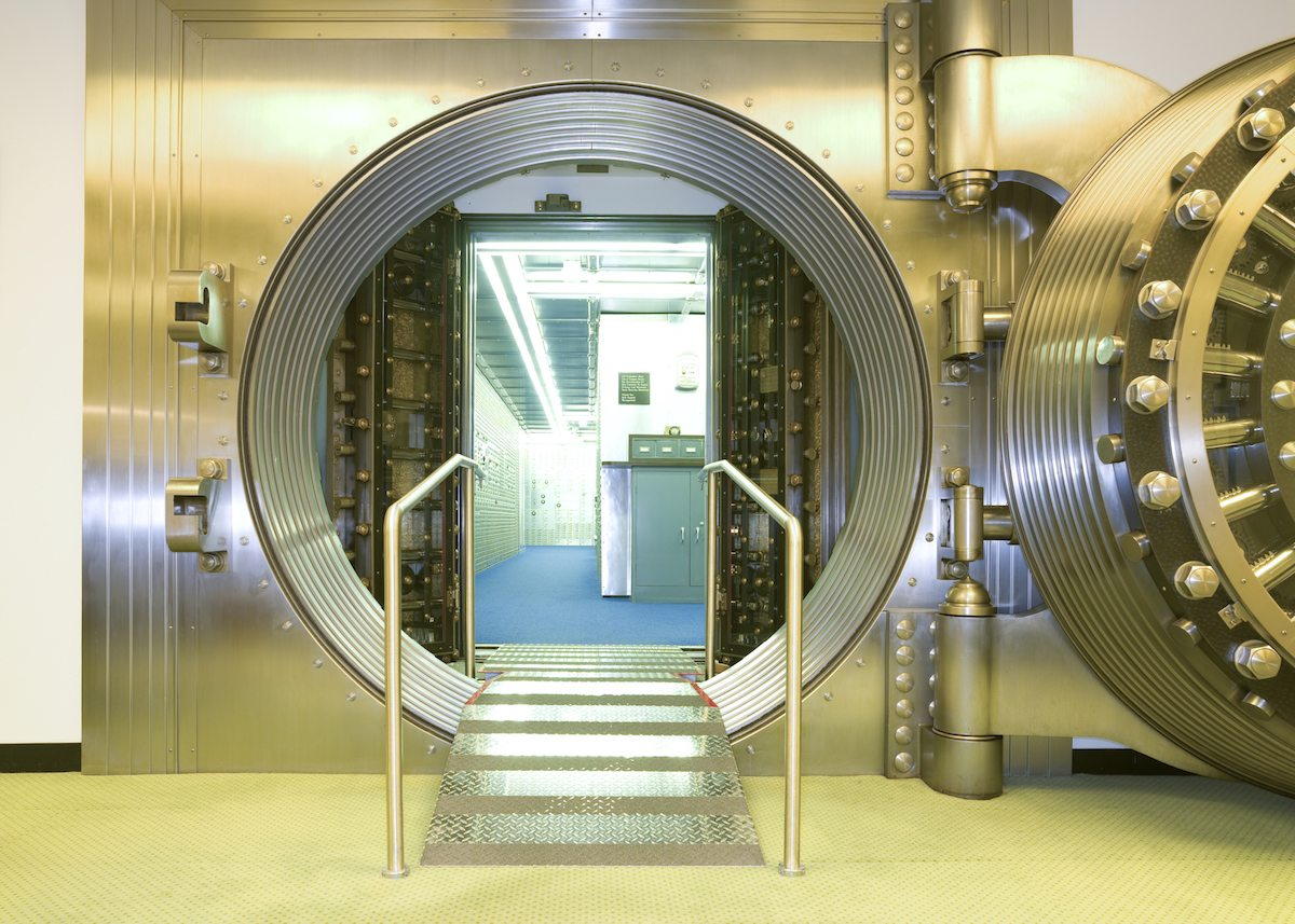 Open vault door getty images