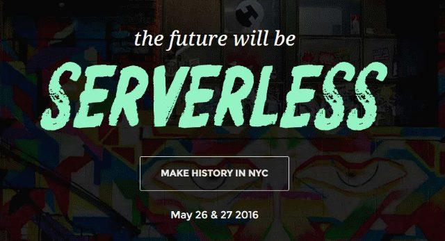 הכרזה של ServerlessConf בניו-יורק