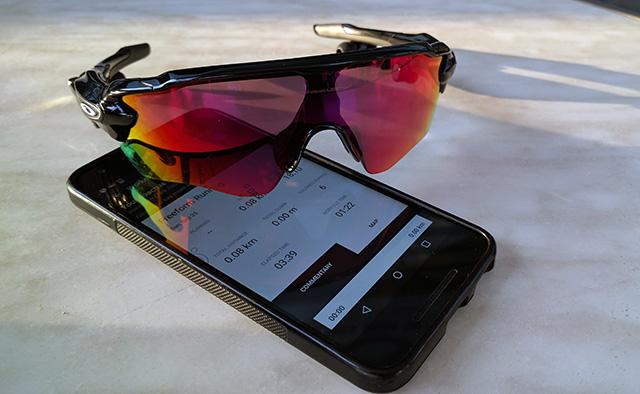 המשקפיים מלווים באפליקציית מאמנת כושר אישית. צילום: גיקטיים