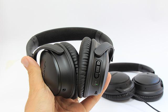 בהשוואה לדור הקודם של האוזניות ה-QC25. צילום: גיקטיים
