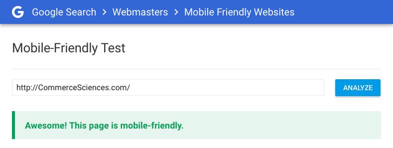 צילום מסך Google Webmasters tools