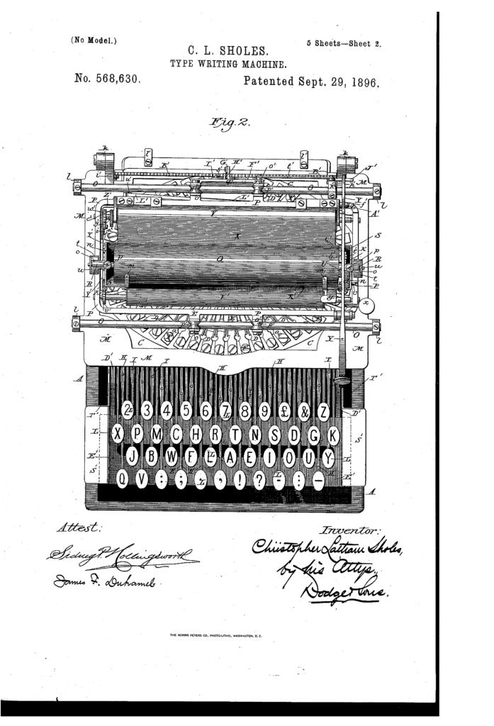 מסמך הפטנט המקורי של שולס. קרדיט תמונה: US Patent Office