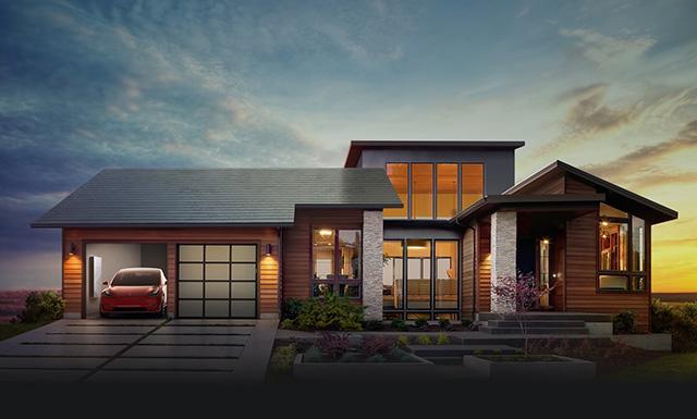 הפתרון המלא: קולטים סולאריים, סוללה ומכונית חשמלית. מקור: Tesla