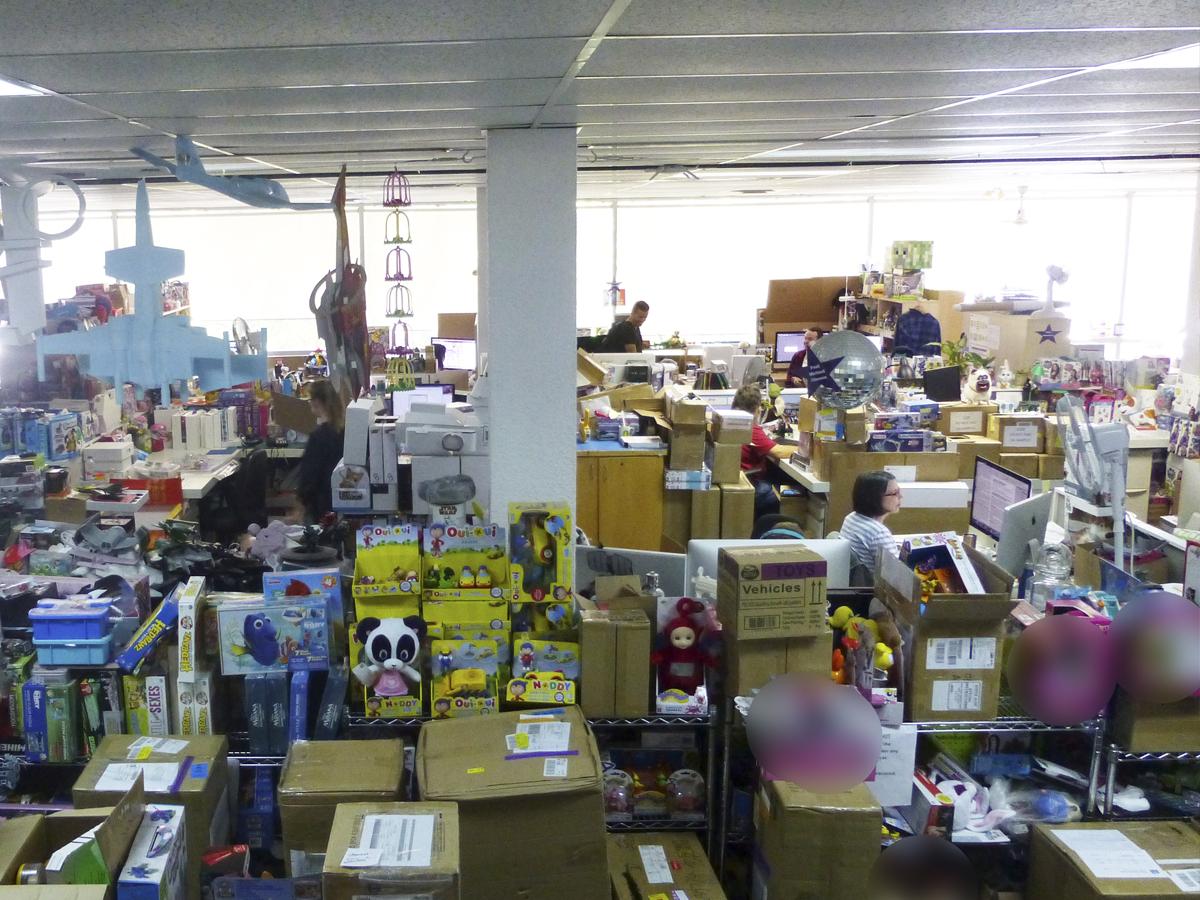 ככה זה נראה מבפנים: משרים בחברת צעצועים. צילום: ירין פרנק ארליך