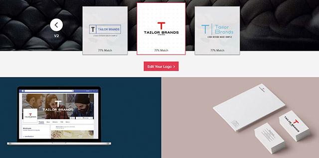 רקורסיה? נתנו למערכת העיצוב האוטומטית של החברה לעצב לעצמה את הלוגו. צילום מסך