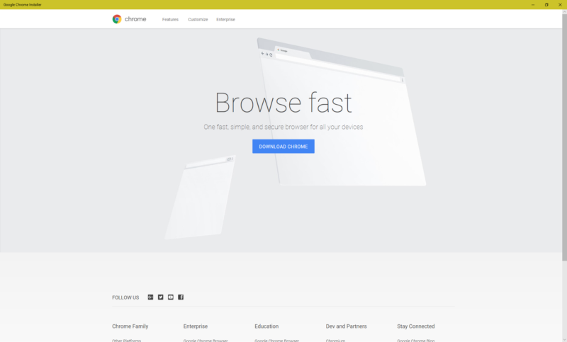 Chrome Windows app