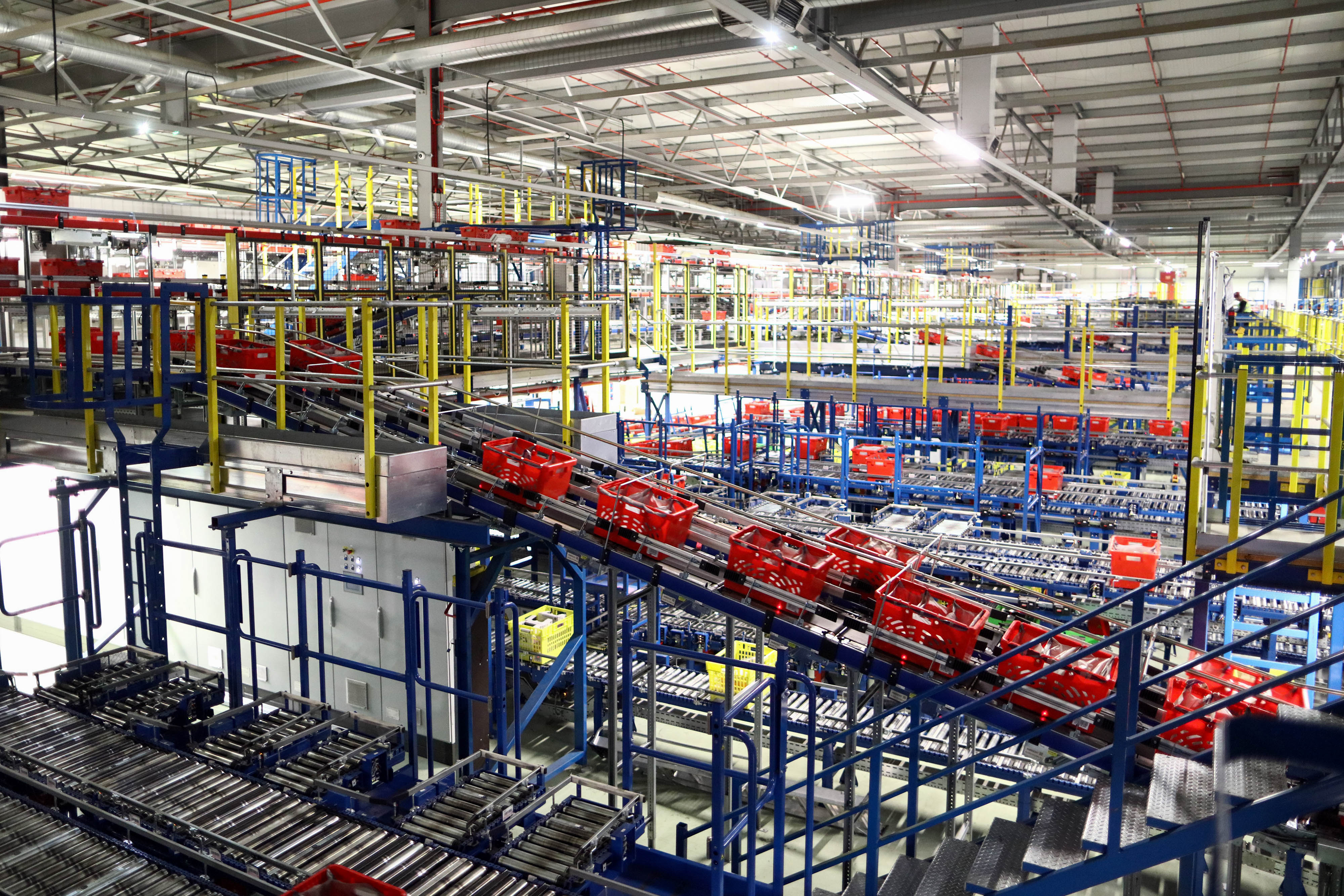 Inside An Ocado Group Plc Distribution Centre