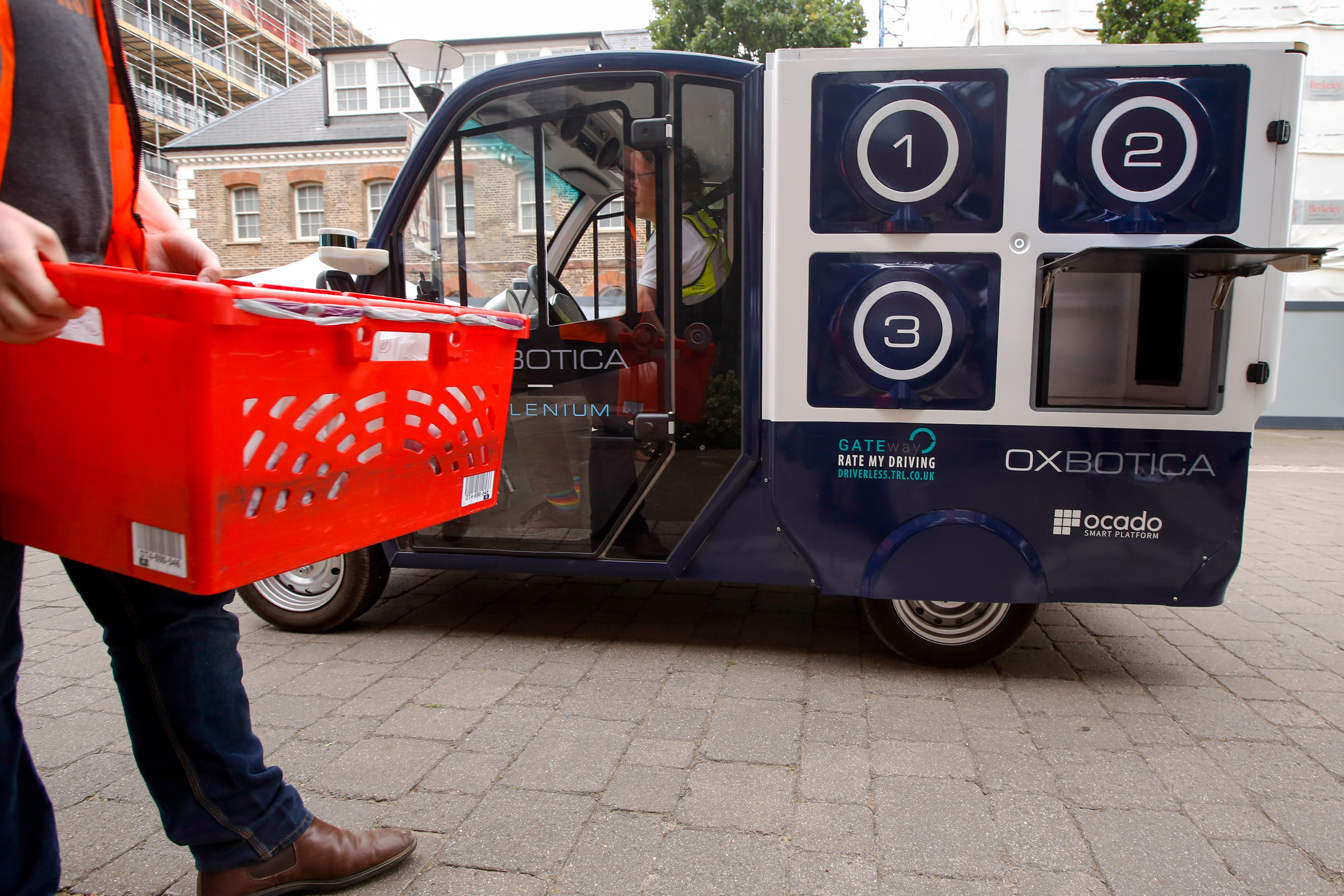 Ocado Group Plc And Oxbotica Demonstrate Technology Being Used In A Driverless Grocery Delivery Trial
