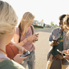 mobile and young teens