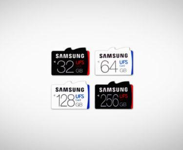 כרטיסי זיכרון בתקן UFS של סמסונג. מקור: Samsung