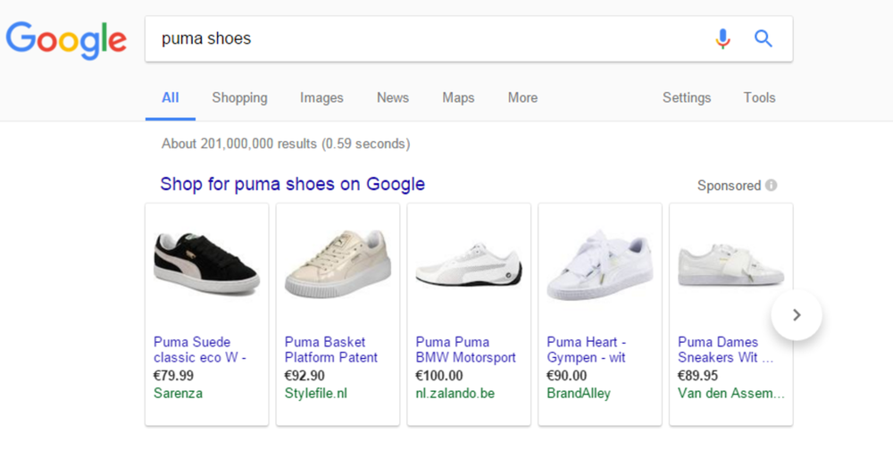 Google Shopping puma
