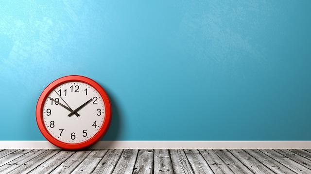 Clock on Wooden Floor Against Wall - לא לשימוש גיקטיים!