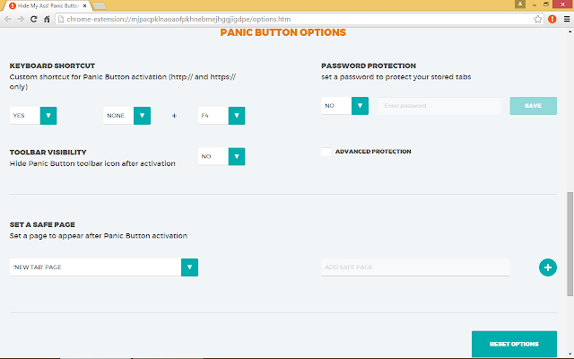 Panic Button/Chrome Web Store